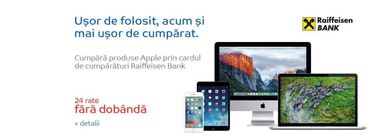 Produse Apple la eMAg in 24 de rate fara dobanda