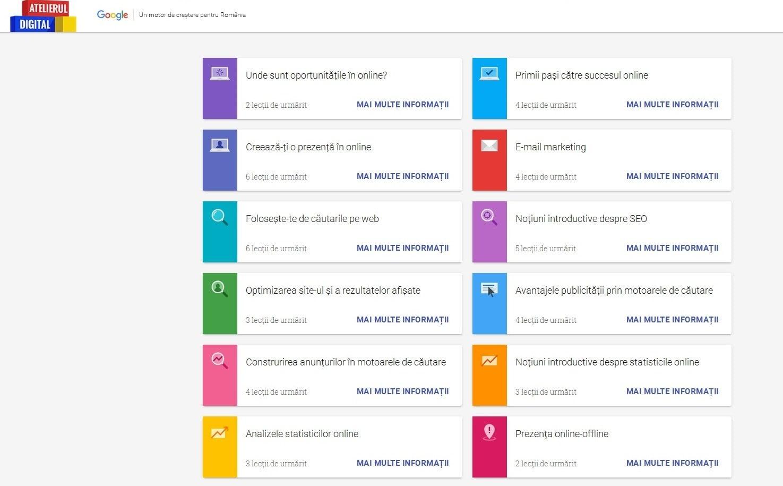 Atelierul Digital Google