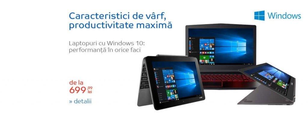 Oferta laptop Windows 10 eMAG