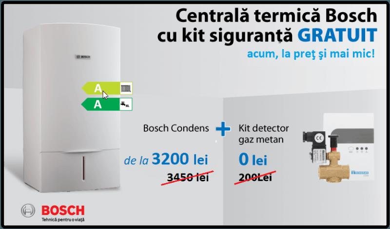 Centrala termica Bosch cu kit siguranta inlcus