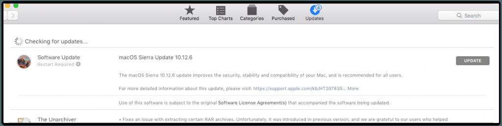 MacOS Sierra Update septembrie