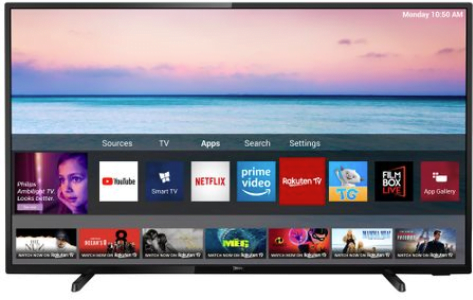 Televizor LED Smart Philips, 108 cm, 43PUS650412, 4K Ultra HD