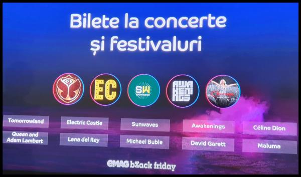 Bilete la concerte si festivaluri 2020