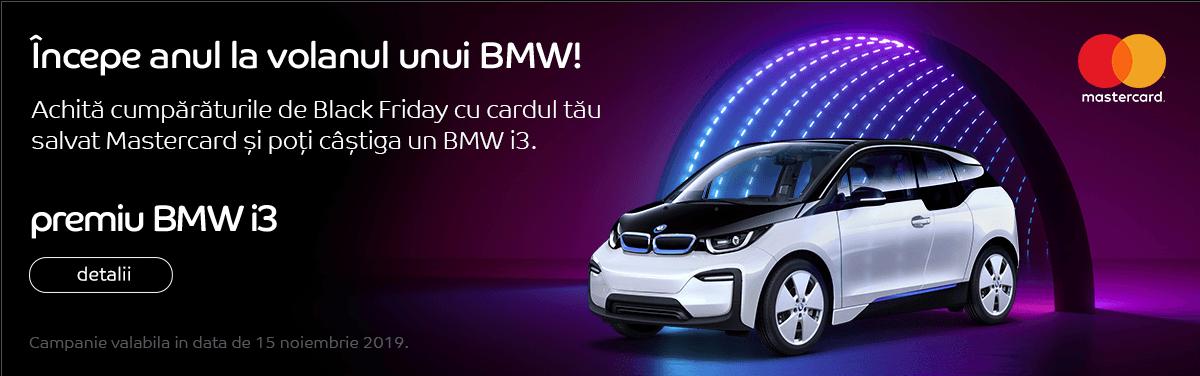 Castiga un BMW i3 de Black Friday eMAG