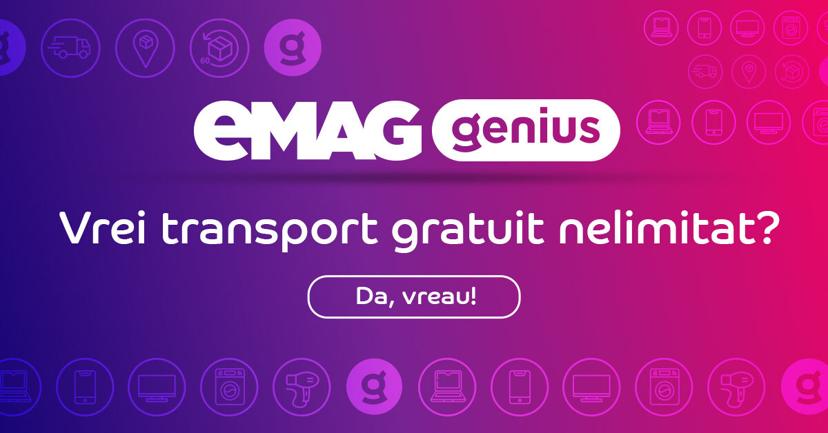 transport gratuit emag genius
